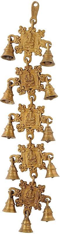 Lord Ganesha Hanging Bells