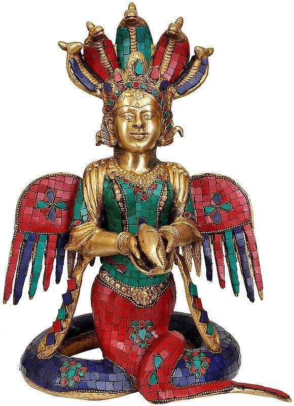 Five-hooded Naga-kanya (Inlay Statue)