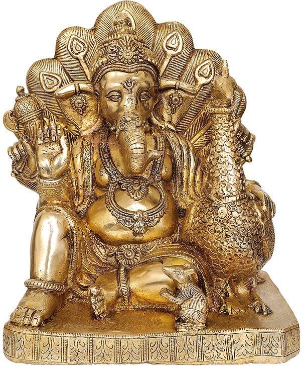 Mayur Ganesha (Ganapati with Peacock)