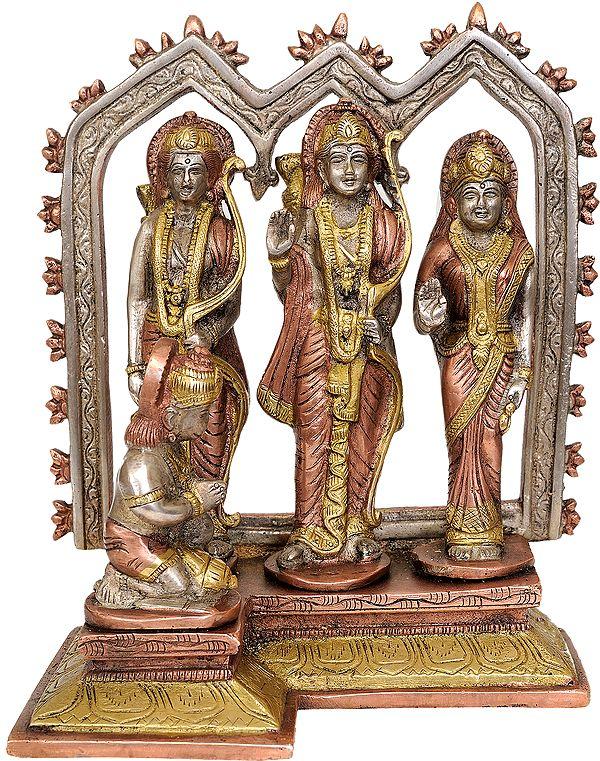 Shri Rama with Sita Ji, Lakshman Ji and Hanuman Ji
