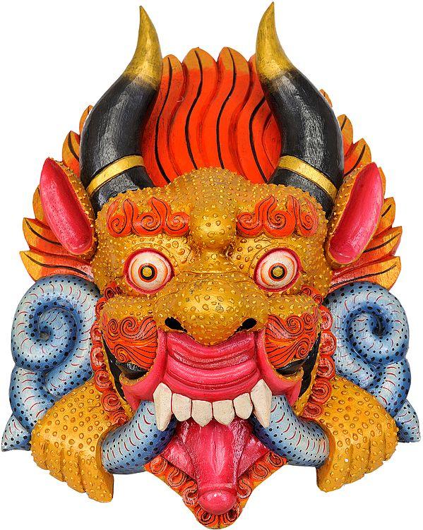 Tibetan Buddhist Wrathful Deity Mask