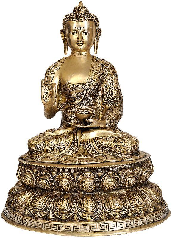 Lord Buddha on Double Lotus