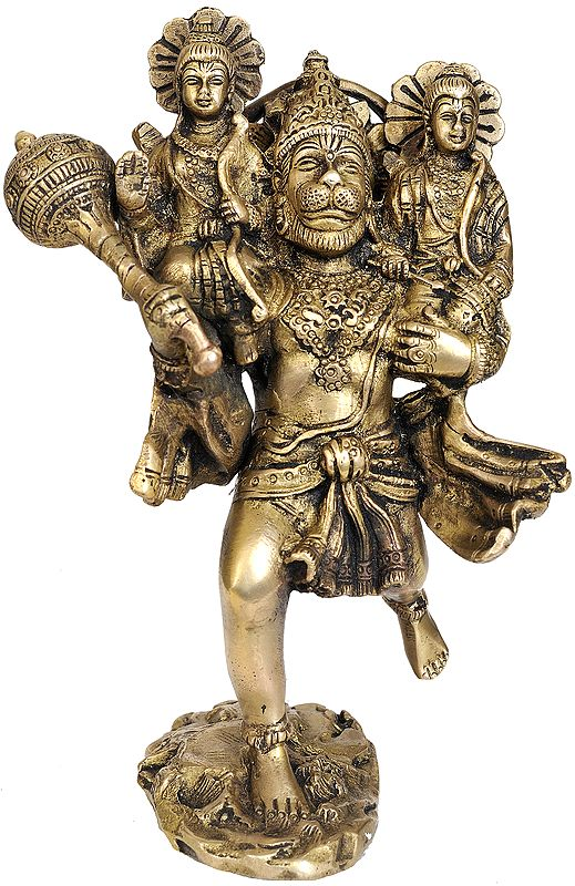 Hanuman Carries Rama and Lakshmana on His Shoulders to Meet Sugriva