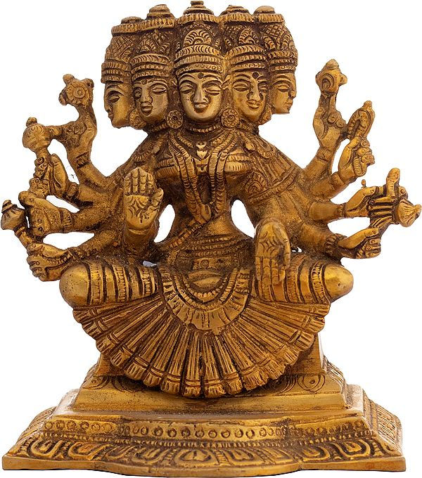 Goddess Gayatri Of The Divinely Unusual Form