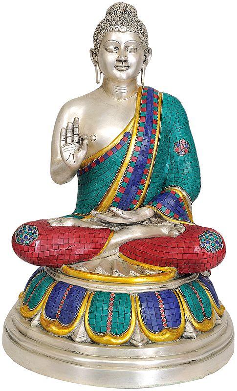 Large Size Tibetan Buddhist Buddha in Vitarka Mudra