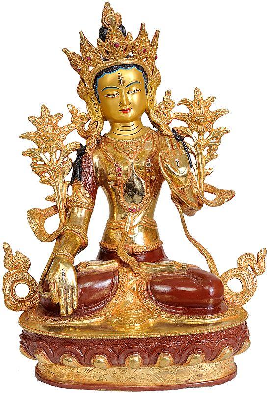 Tibetan Buddhist Deity: White Tara (From Nepal)