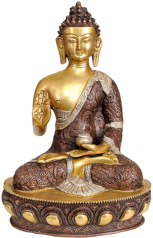 Lord Buddha in Vitarka Mudra (Robes Decorated with the Dragons)