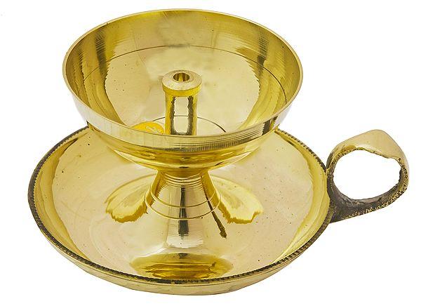 Handled Wick Puja Lamp