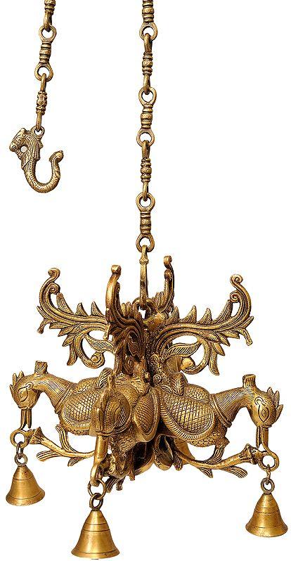Peacock Hanging Bells
