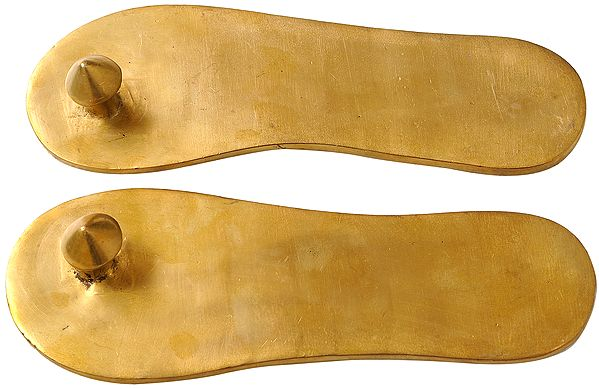 Charan Paduka (Khadau) - Brass Sandals for Auspicious Occassions