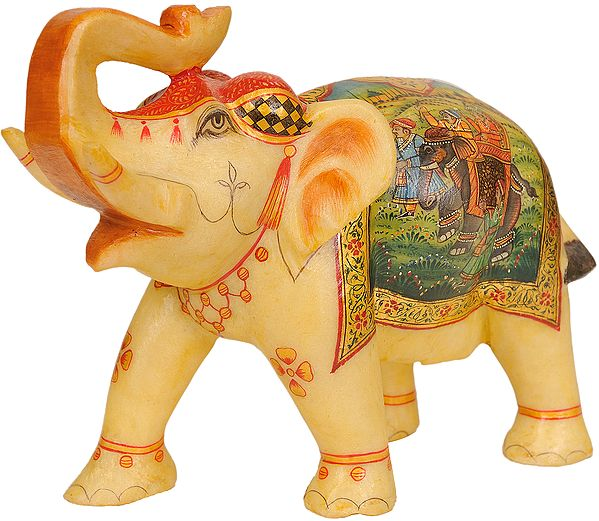 Elephant Over-Cloth Decorated with Royal Figures