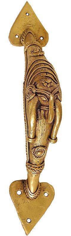 Tribal Elephant Door Knob (Folk Statue From Bastar)