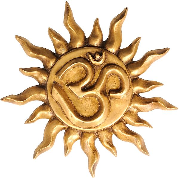 Om on Surya (Wall Hanging)
