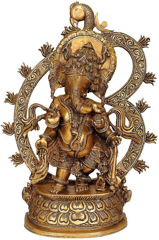 Bhagawan Ganesha with Large Om