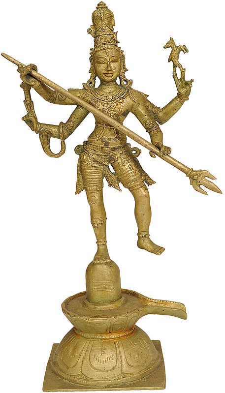 Shiva Emerging From The Linga