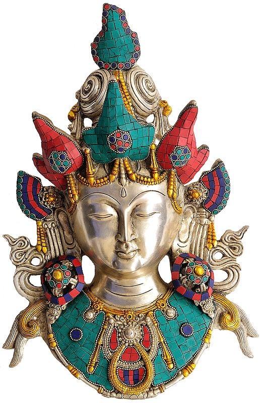 Tibetan Buddhist Deity Goddess Tara Mask (Wall Hanging)