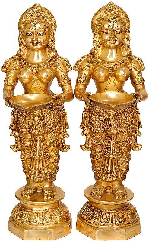 (Large Size) Pair of Deeplakshmi