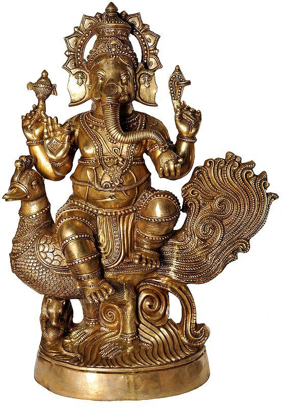 (Large Size) Mayurasan Vijay Ganapati