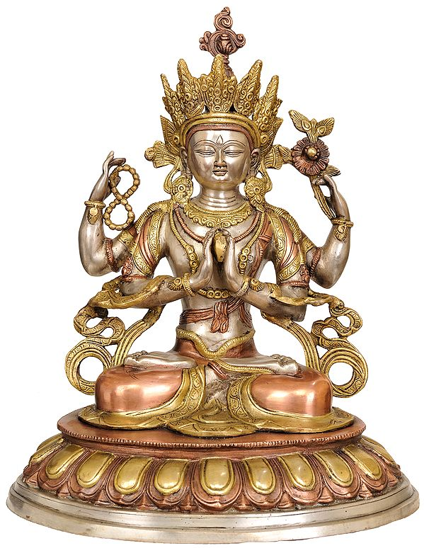 Chenrezig- Four Armed Avalokiteshvara (Tibetan Buddhist Deity)
