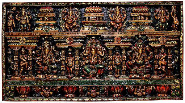 Detailed Ganesha Panel
