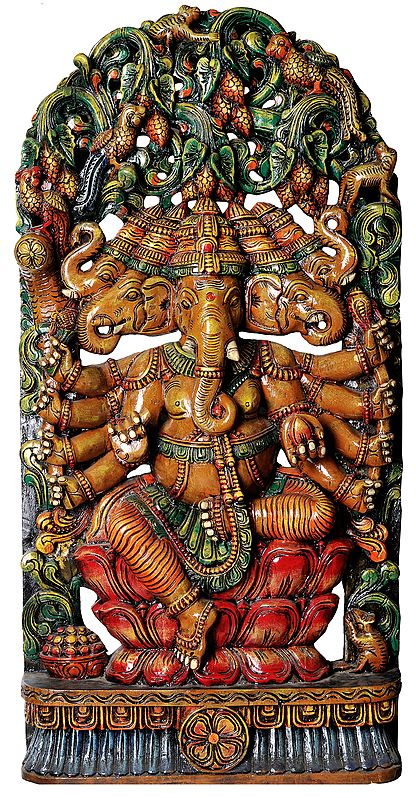 Large Size Panchamukha Ganesha (Five-Headed Ganapati)