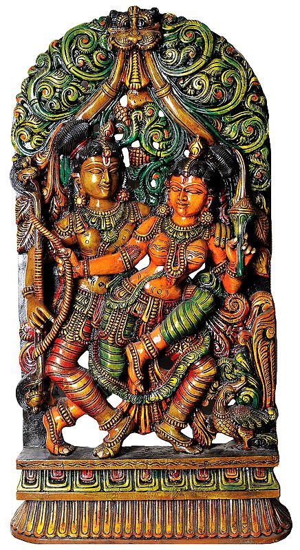 Intimately Dancing Radha-Krishna