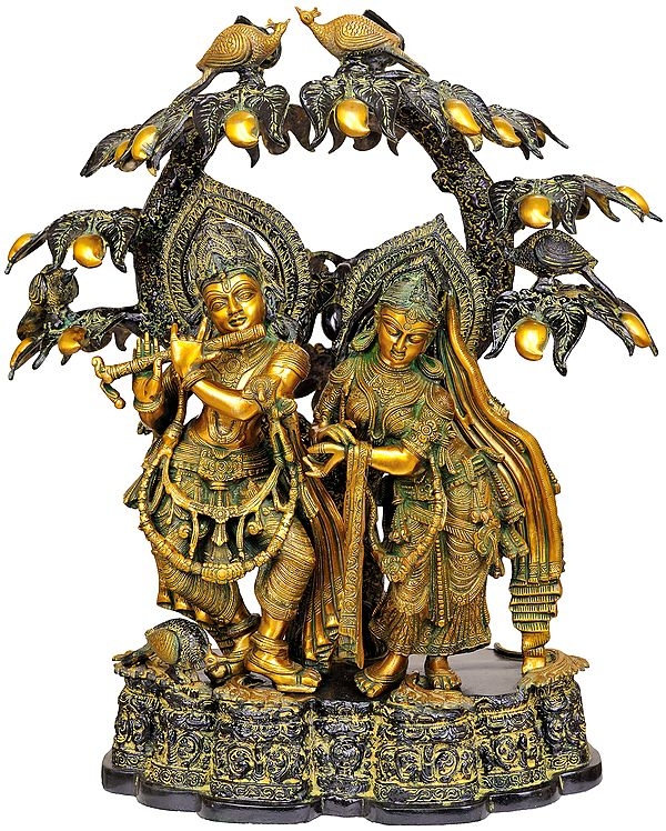 Large Size Radha Krishna Under the Kadamba Tree