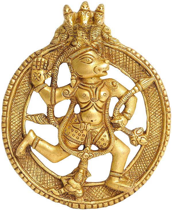 Lord Hanuman Under Serpent Hanging Plate