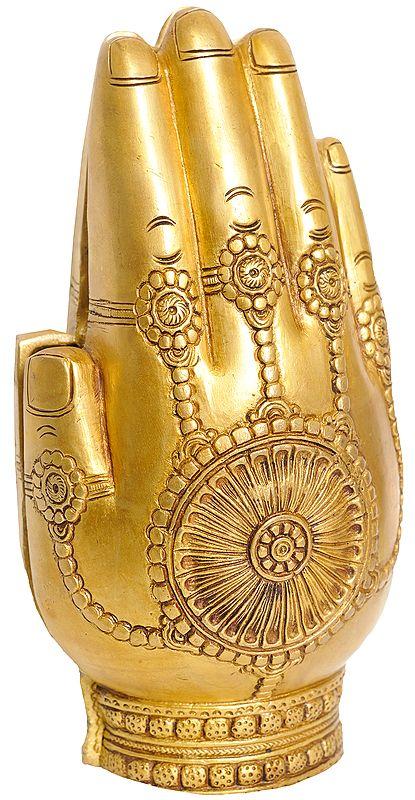 Radha Krishna in a Pair of Folding Hands