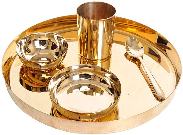 Bronze Thali for Eating Food (According to the Shastras, One Should Eat in a Bronze Thali)