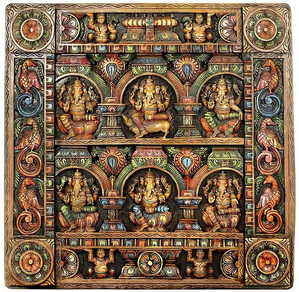 Six Ganesha Panel