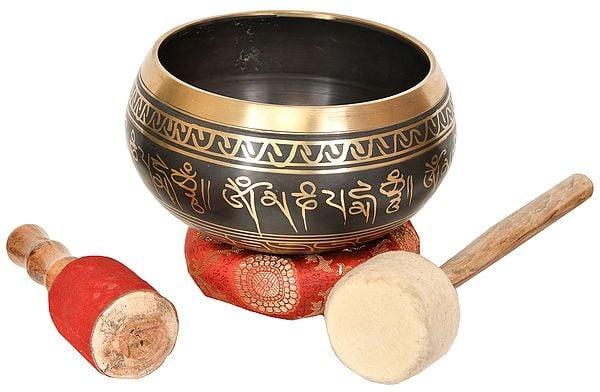 Tibetan Buddhist Singing Bowl (with the Image of Buddha Inside)