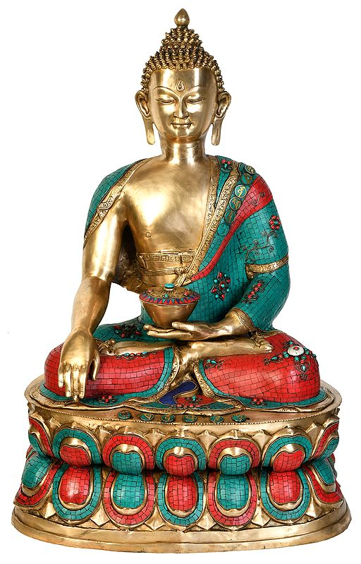 Large Size Buddha Invoking Mother-Earth to be His Witness