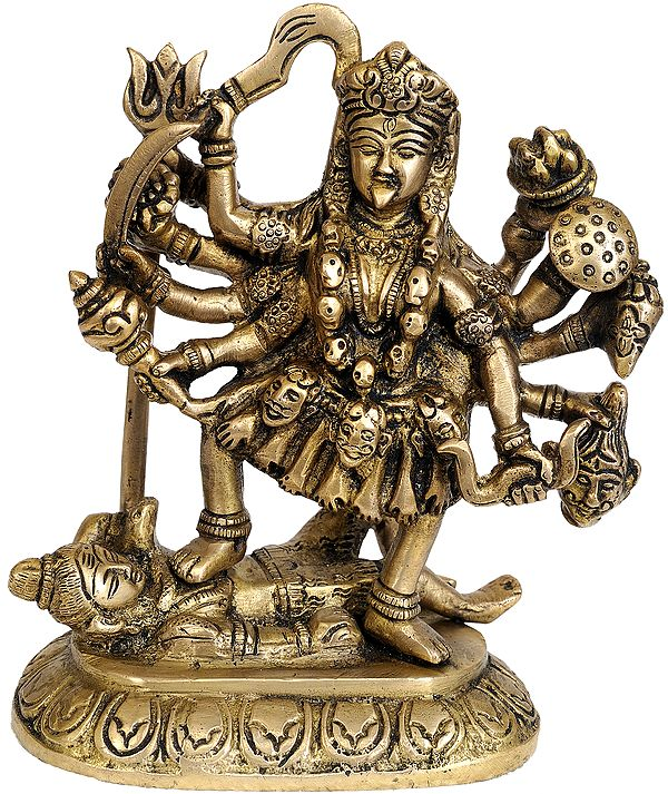 Goddess Kali in Golden and Brown Hues