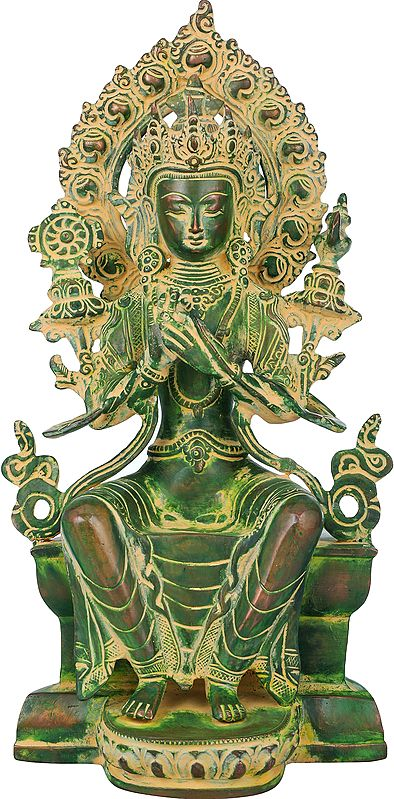Tibetan Buddhist Maitreya Buddha - The Only Deity Seated with His Legs Down