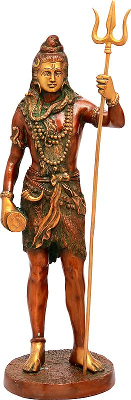 Standing Shiva, Wielding His Trident