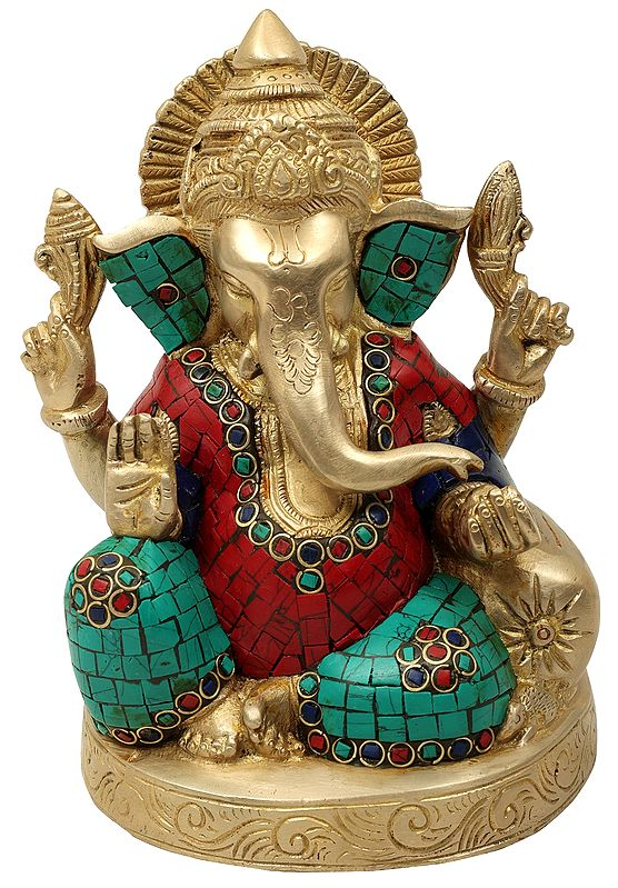 Blessing Lord Ganesha with Inlay