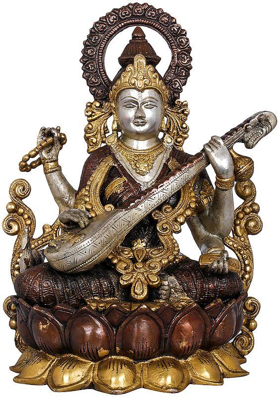 Kamalasana Goddess Saraswati