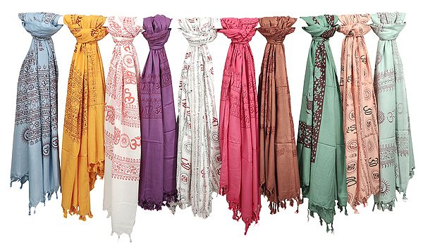 Lot of Ten Prayer Shawls