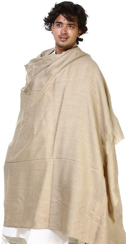Plain Khaki Men's Dushala (Lohi)