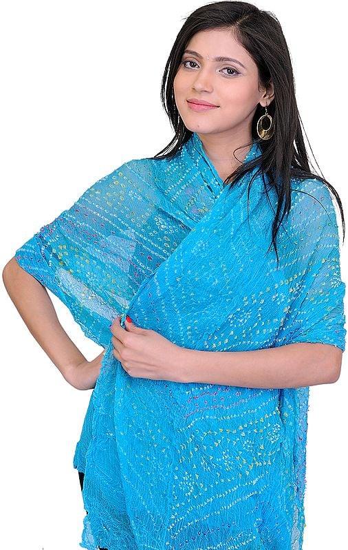 Tie-Die Bandhani Dupatta from Jodhpur