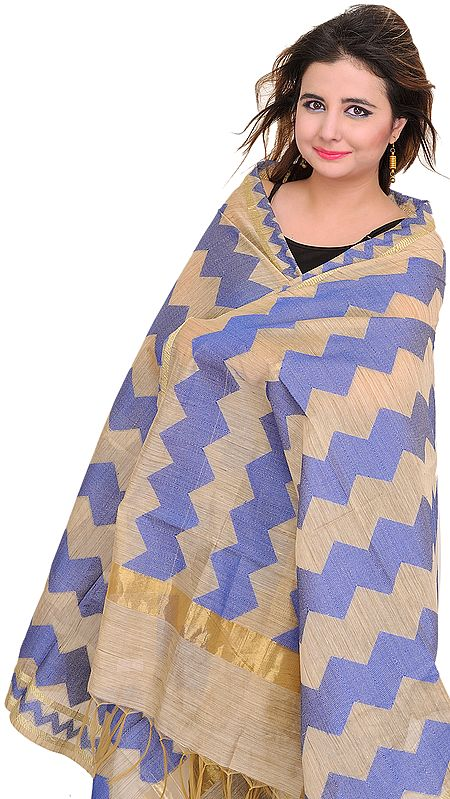 Dupatta from Banaras with Zigzag Weave