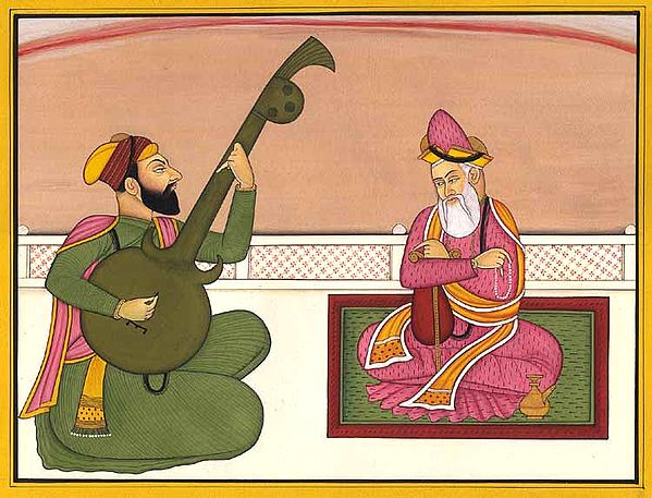 Guru Nanak, with Bhai Mardana Singing