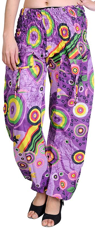 Dewberry Printed Casual Trousers