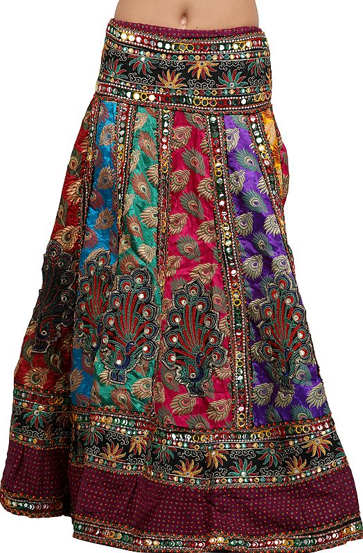 Fuchsia-Rose Casual Palazzo Pants with Printed Motifs All-Over