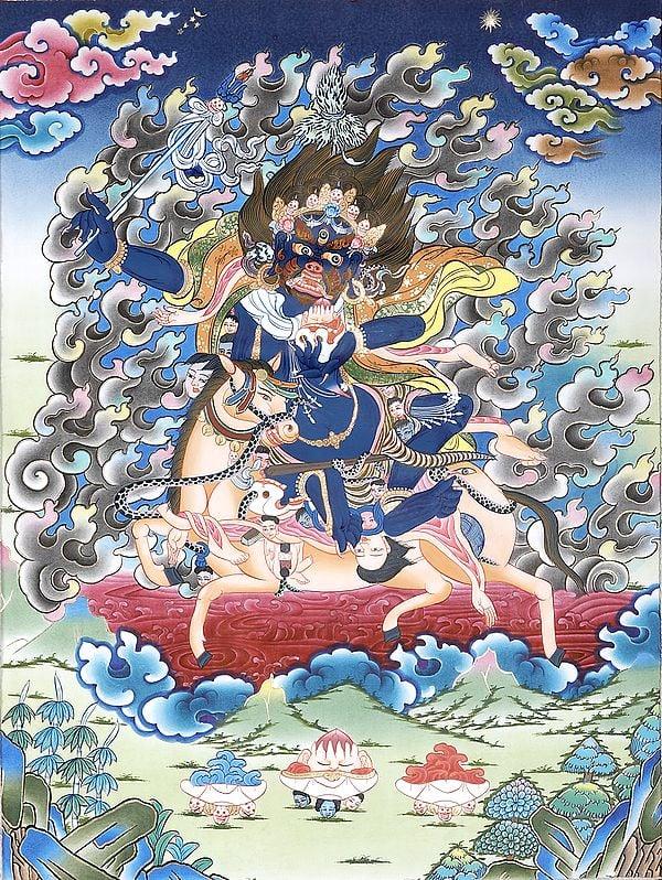 Palden Lhamo (Tibetan Buddhist Goddess Who Rides on a Sea of Blood)