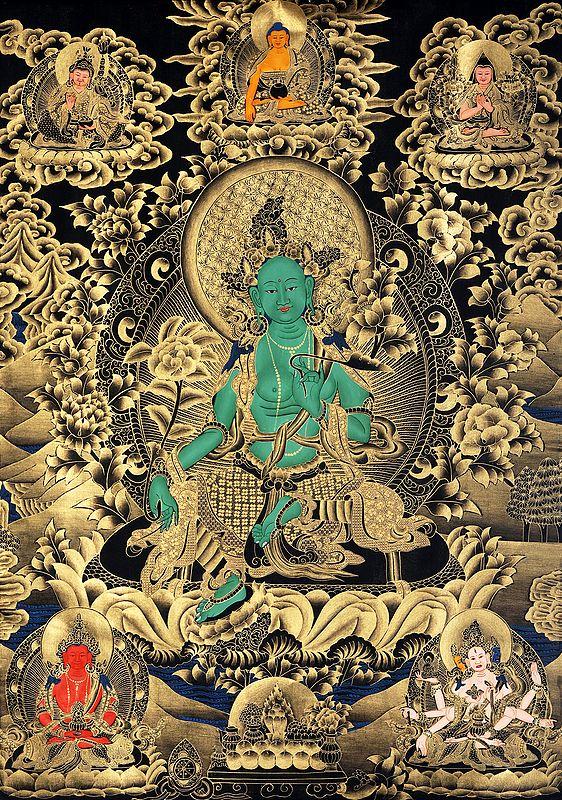 Large Size Green Tara - Tibetan Buddhist Saviouress