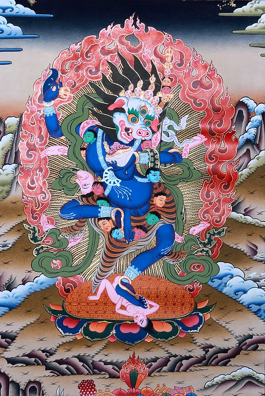 Tibetan Buddhist Deity Simha Dakini