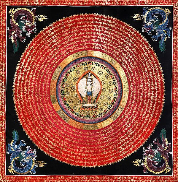 Vivid Mandala Of Lord Avalokiteshvara