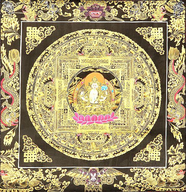 Chenrezig Mandala - Tibetan Buddhist